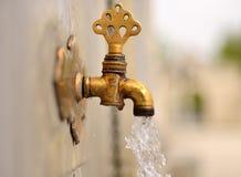 Date de robinet d'ablution faite en laiton Images stock