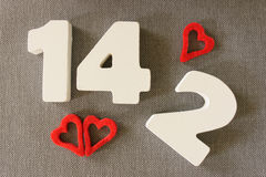 Date 14,2 de Valentin Photographie stock