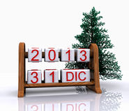 December 31, 2013. Date - December 31, New Year's Eve, 3D Royalty Free Stock Image