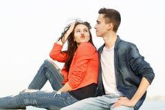 Date des adolescents Image libre de droits