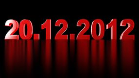 Date of doomsday. On December 2012 stock illustration