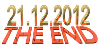 Date of doomsday on December 2012 Royalty Free Stock Photos