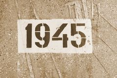 Date of the end of World War II Stock Photography