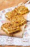 Date, fig and orange oatmeal bars Stock Image
