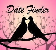 Date Finder Indicates Online Dating And Choose Stock Photo