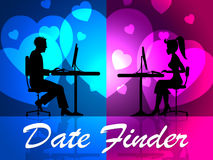 Date Finder Means Search For And Dates Stock Images