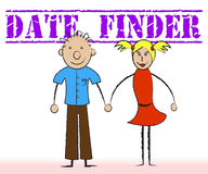 Date Finder Shows Online Dating And Dates. Date Finder Meaning Search For And Found Royalty Free Stock Image
