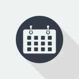 Date flat design, calender design, mark date design Stock Photo