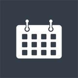 Date flat design, calender design, mark date design Royalty Free Stock Images