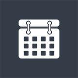 Date flat design, calender design, mark date design Stock Photos