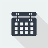 Date flat design, calender design, mark date design Royalty Free Stock Photos