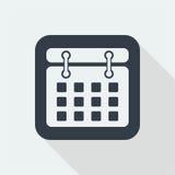 Date flat design, calender design, mark date design Royalty Free Stock Photo