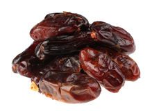 Date fruit. Date brown fruit isolated on white background stock photo