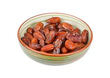 Date fruit in bowl Stock Photo