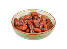 Date fruit in bowl Royalty Free Stock Photo