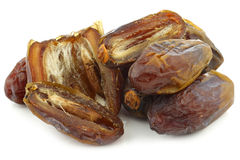 Date fruit and a cut one Stock Image