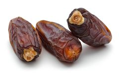 Date fruit. Isolated on white background royalty free stock photos