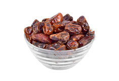 Date fruit in glass bowl Royalty Free Stock Photo