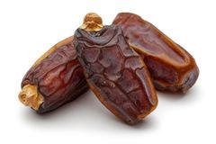 Date fruit. Isolated on white background stock photo