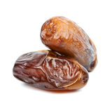 Date fruit. Isolated on white background royalty free stock photography
