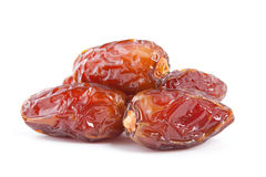 Date fruit  on white background. Royalty Free Stock Photos