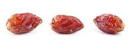Date fruit  on white background. Royalty Free Stock Photo