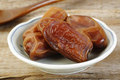Date fruits in bowl Royalty Free Stock Photo