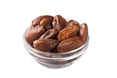 Date fruits in bowl Royalty Free Stock Image