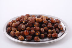Date Fruits in a plate Stock Photos