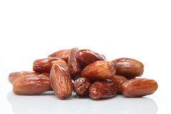 Date Fruits on White Stock Photography