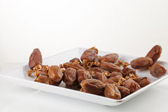 Date fruits on white background Stock Images