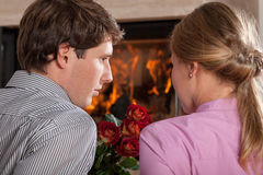 Date at home Royalty Free Stock Photos