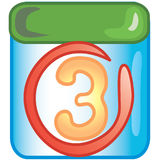 Date icon. Stylized circled date icon or symbol royalty free illustration