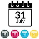 Date limite de dépôt d'impôt sur le revenu - 31 juillet icône - illustration Illustration Stock