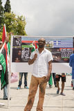 DATE: 30 may 2015. LOCATION: Sintagma in Athens Greece. EVENT: the 30th may rally day in remembrance of Biafrans fallen heroes who Stock Images