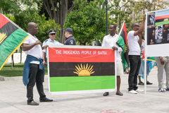 DATE: 30 may 2015. LOCATION: Sintagma in Athens Greece. EVENT: the 30th may rally day in remembrance of Biafrans fallen heroes who Stock Photo