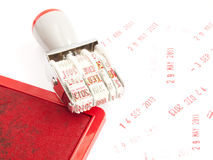 Date months years stamper Stock Photos