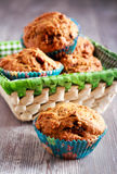 Date muffins in a basket Royalty Free Stock Photos