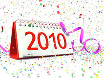Date of New Year 2010 Stock Images