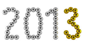 Date of new year 2013. Made of metal balls Vector Illustration