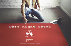 Date Night Ideas Valentine Romance Heart Dating Concept Royalty Free Stock Image