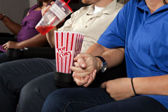 Date Night at the Movies Royalty Free Stock Image