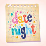 Date night notepad paper message reminder Royalty Free Stock Images