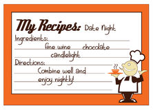 Date Night Recipe Royalty Free Stock Images