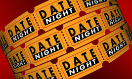 Date Night Tickets Romantic Evening Out Movie Stock Photo