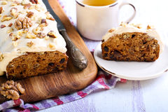 Date and nut cake Royalty Free Stock Image