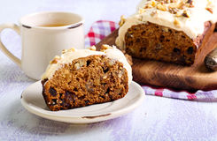 Date and nut cake Stock Images