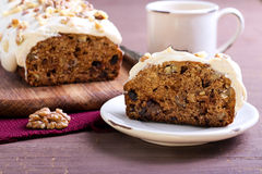 Date and nut cake Royalty Free Stock Photos