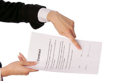 Date Of Signing Of A Contract Royalty Free Stock Photo