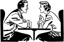 A Date Over Sodas Stock Images